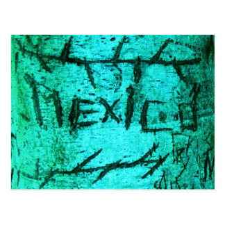 """Pintada tallada del árbol de """"México"""" de la Postal"""