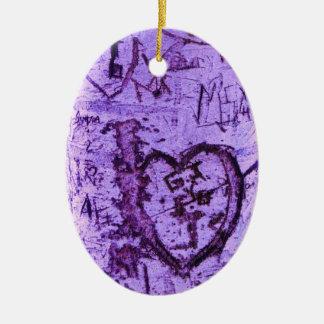 Pintada tallada púrpura del árbol adorno de navidad