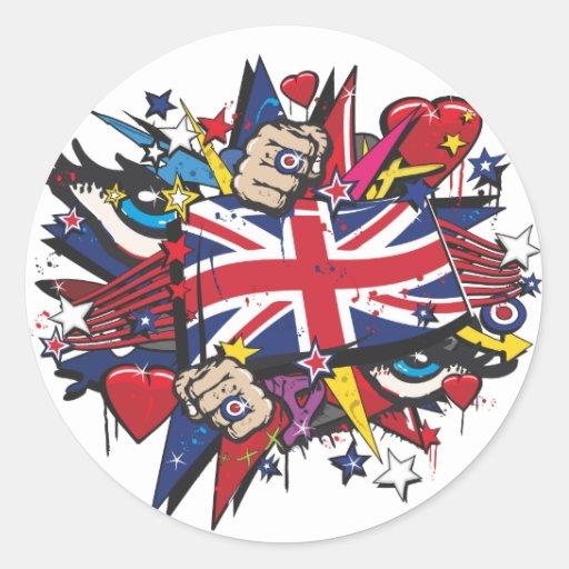 Pintada UK bandera English London POP arte graff