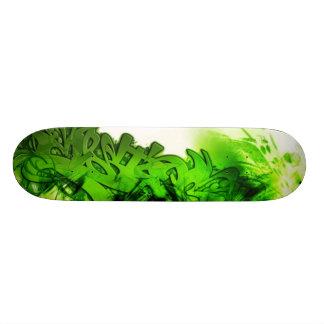 Pintada verde monopatín personalizado