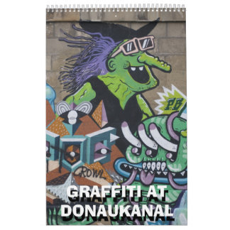 Pintadas en Donaukanal 2015 Calendario De Pared