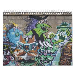 Pintadas enrrolladas en Viena Austria 2017 Calendarios De Pared