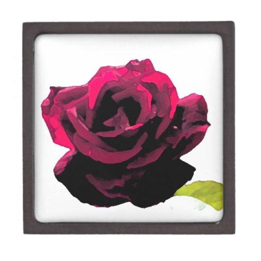 Pintado color de rosa caja de recuerdo de calidad