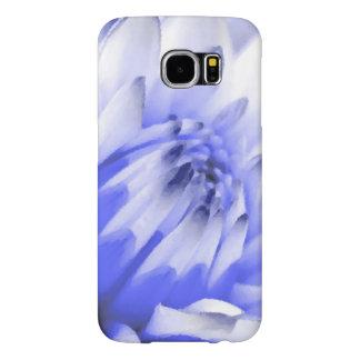 Pintado flor azul y blanca fundas samsung galaxy s6