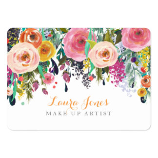 Pintado floral componga las tarjetas de la cita tarjetas de visita grandes