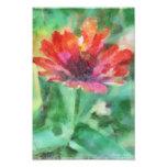 Pintado floral en la impresión fotográfica verde