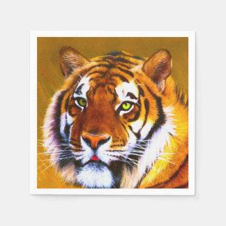 Pintado mirada de servilletas del tigre servilleta de papel