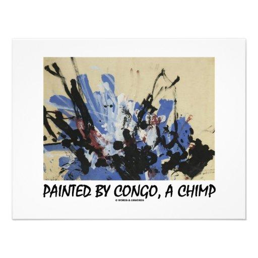 Pintado por Congo, un chimpancé Invitación