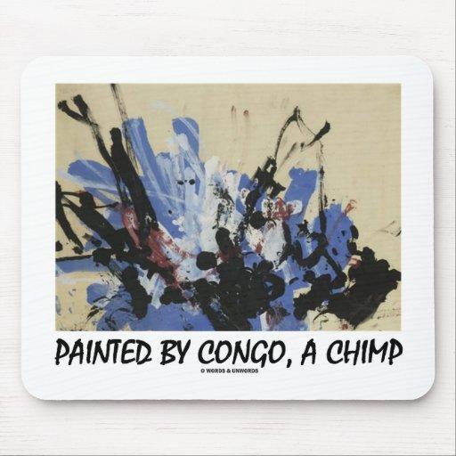 Pintado por Congo, un chimpancé Tapetes De Ratón