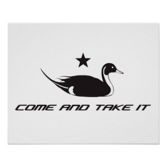"""Pintail Duck """"Come and Take It"""" Print"""