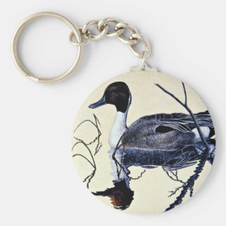 Pintail duck keychain