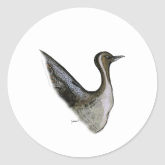 pintail duck, tony fernandes classic round sticker