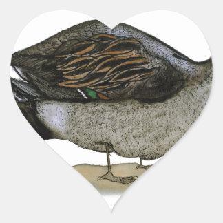 Pintail duck, tony fernandes heart sticker
