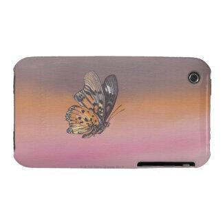 Pintando la representación de la mariposa en vuelo Case-Mate iPhone 3 coberturas