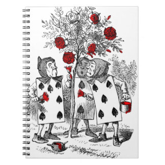 Pintando los rosas rojos cuaderno