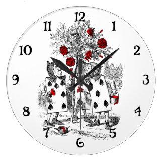 Pintando los rosas rojos relojes