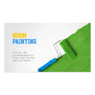 Pintando y adornando la tarjeta de la empresa de tarjetas de visita