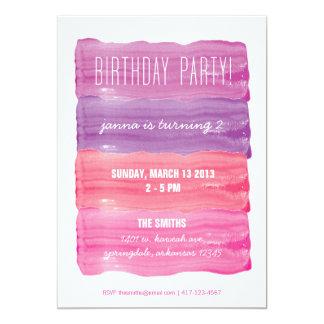 """Pinte a la fiesta de cumpleaños de los chicas de invitación 5"""" x 7"""""""