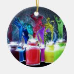 pinte a los bailarines adornos de navidad