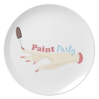 Pinte al fiesta plato de cena