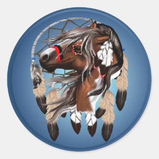 Pinte al pegatina de Dreamcatcher del caballo