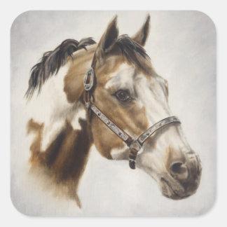 Pinte al pegatina del caballo