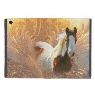 Pinte caso del iPad del oro del caballo el mini iPad Mini Protectores