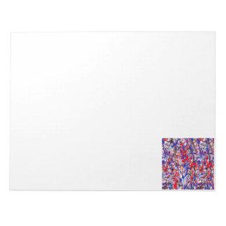 Pinte el arte abstracto de la salpicadura blocs de notas
