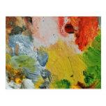 Pinte el arte abstracto de los colores de la postal