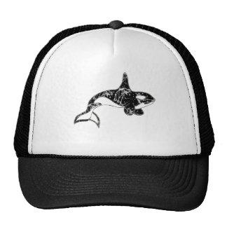 Pinte el arte de la orca de la salpicadura gorro