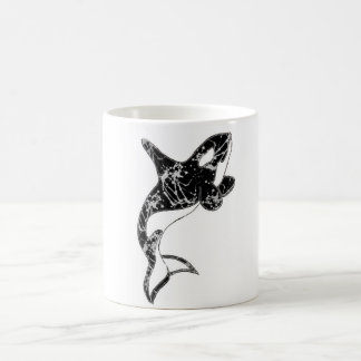 Pinte el arte de la orca de la salpicadura taza de café