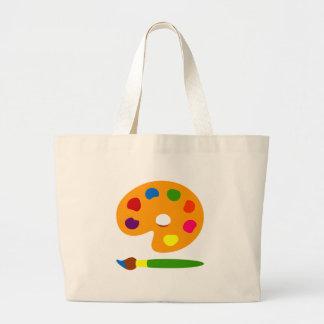 Pinte el arte de la paleta bolsa de tela grande