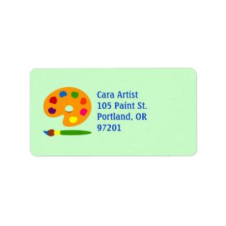 Pinte el arte de la paleta etiqueta de dirección