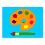 Pinte el arte de la paleta postal