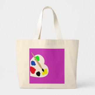 Pinte el bolso bolsa de tela grande