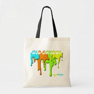 pinte el bolso de compras de la ESCUELA VIEJA del  Bolsa Tela Barata