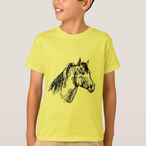 Pinte el bosquejo simple del caballo playera