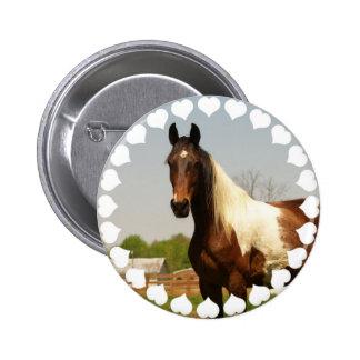Pinte el botón del caballo pin