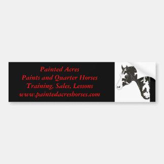 pinte el caballo, AcresPaints pintado y el cuarto  Etiqueta De Parachoque