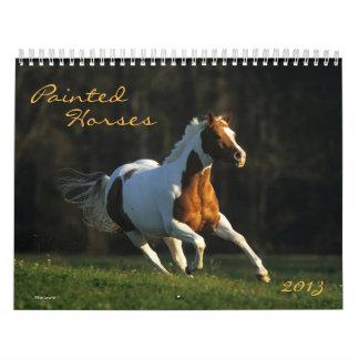 Pinte el caballo calendarios de pared