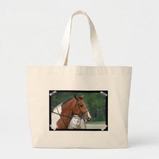 Pinte el caballo de la demostración bolsas lienzo