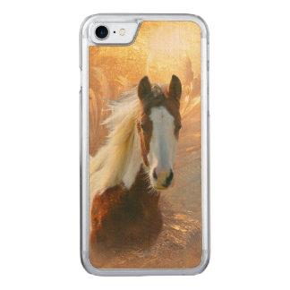 Pinte el caballo de madera funda para iPhone 7