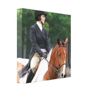 Pinte el caballo en la impresión de la lona de la  lona envuelta para galerías