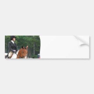 Pinte el caballo en la pegatina para el parachoque pegatina de parachoque