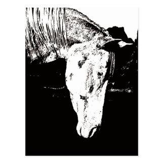 Pinte el caballo en los Badlands II Tarjeta Postal
