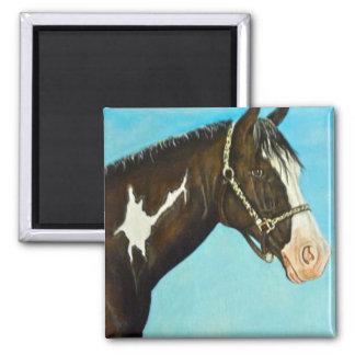 Pinte el caballo imanes de nevera