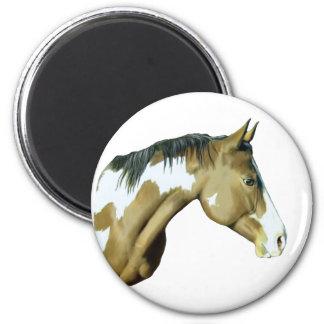 Pinte el caballo, señora imanes para frigoríficos