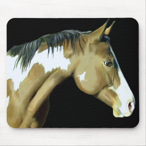 Pinte el caballo, señora tapete de ratón