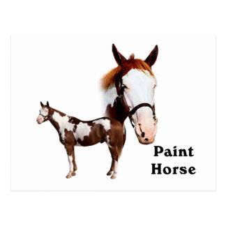Pinte el caballo tarjetas postales