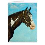 Pinte el caballo tarjetas